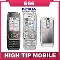 Nokia E66, teléfonos móviles Bluetooth 3 G WIFI GPS JAVA de desbloqueo del teléfono celular reparado