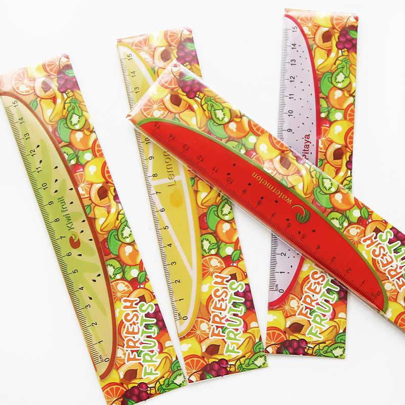 1 pezzo Righello 15 centimetri Materiale Scolastico Kawaii Frutta Modello Righello Novità Strumenti di Scuola