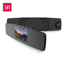 YI Mirror Dash Cam Dual Dashboard font b Camera b font Recorder Touch Screen Front Rear