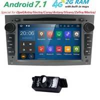 7GPS Radio 2din Android7. 1 Car dvd Player For opel astra H vectra c zafira b corsa c d Meriva Vivaro Antara NavigationWifi SWC