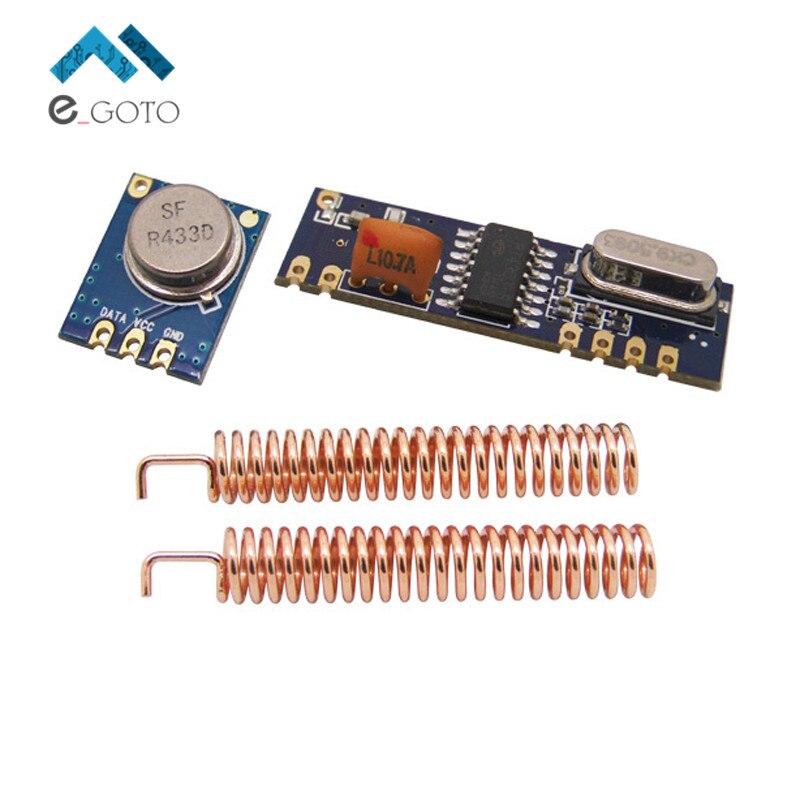 2 шт. 433 МГц 100 М Беспроводной Модуль Комплект (ASK Передатчик STX882 + ASK Приемник SRX882 + 2 Шт. медь Весной Антенна)