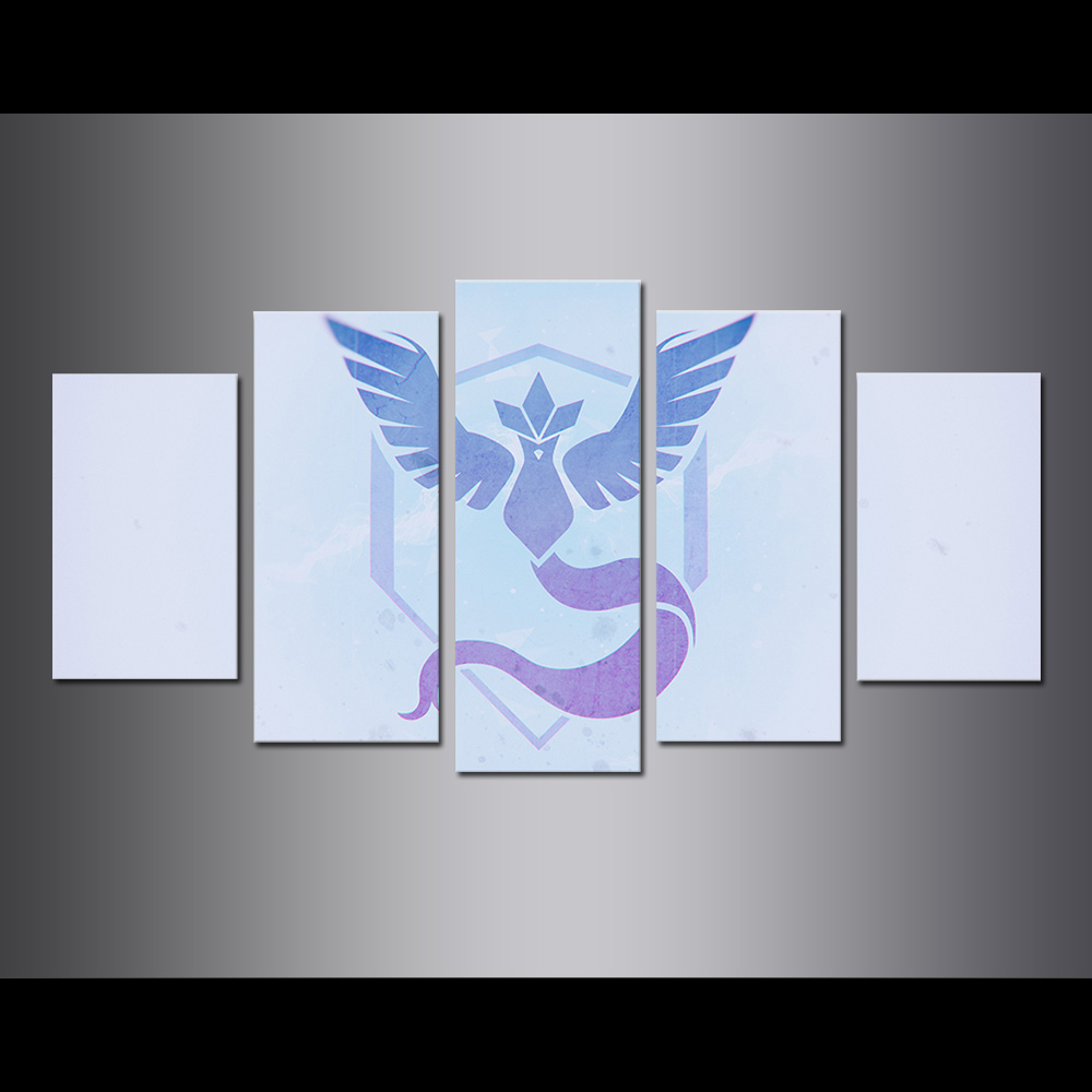 Unframed Canvas Painting Animation TEAM MYSTIC Giclee Modular Picture Prints Pictures For Living Room Wall Art Decoration