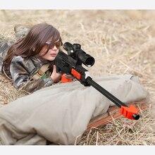 Снайперская винтовка Реалистичная Airsoft Air guns Дети Прохладный мягкая пуля пластик Военная униформа модель игрушечные лошадки для игр на открытом воздухе