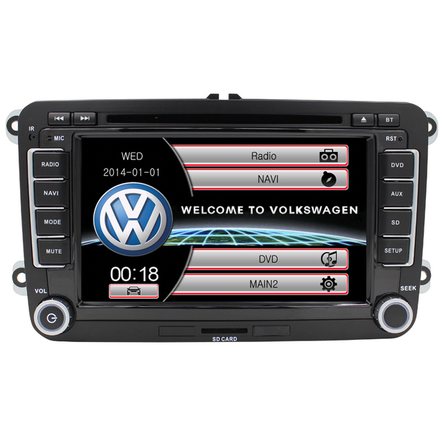 Free map Steering Wheel Control Bluetooth RDS For VW Passat B6 UI Golf 5 Jetta POLO GPS Navigation Multimedia System Radio FM
