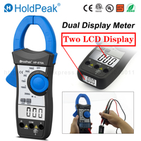 HoldPeak DC AC Dual Display Clamp Meter Doubel LCD Resistance Diode Test Data Hold Multimeter 870A