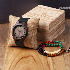 Image 1 - ボボ鳥高級ブランド黒檀時計カスタマイズされたギフトクォーツムーブメント腕時計息子ママパパボーイフレンド刻ま