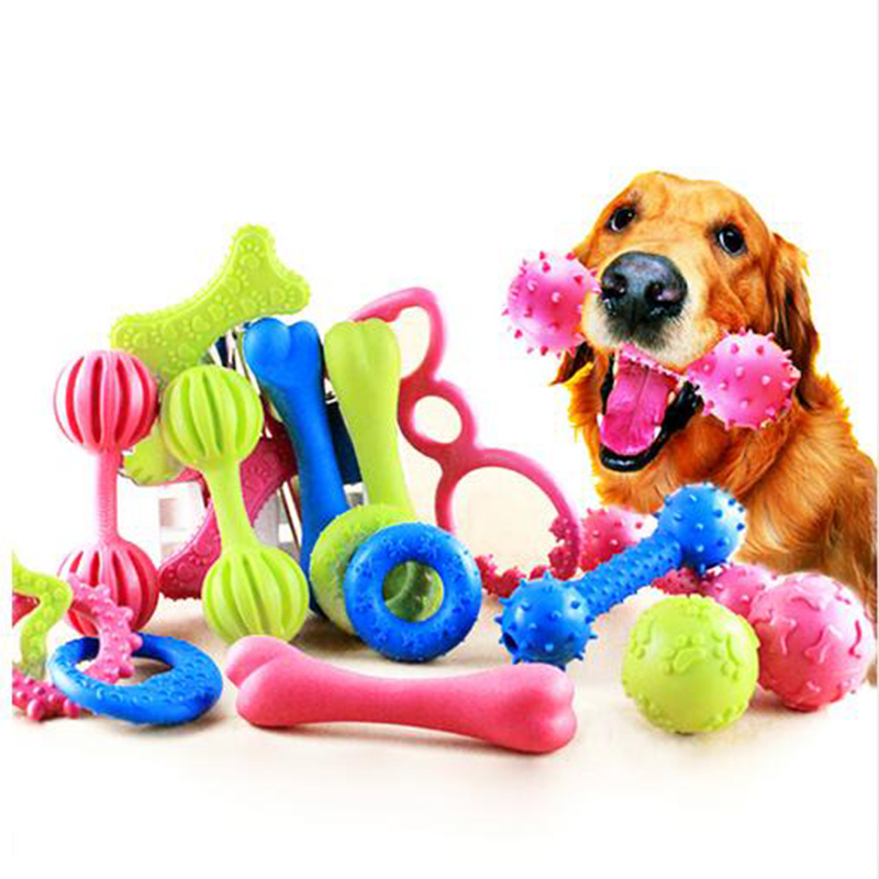18 Style Pet Dog Toy Chew Squeaky Rubber Toys  Non-toxic Rubber Toy Funny Nipple Ball For Cat Puppy Baby Dogs Interactive Game