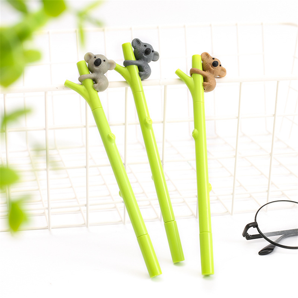 2 Pcs/lot Dinosaur Gel Pen Cute 0.38 Mm Black Ink Signature Pens For Writing Office School Supplies Stationery Gift Pretty And Colorful Pens, Pencils & Writing Supplies