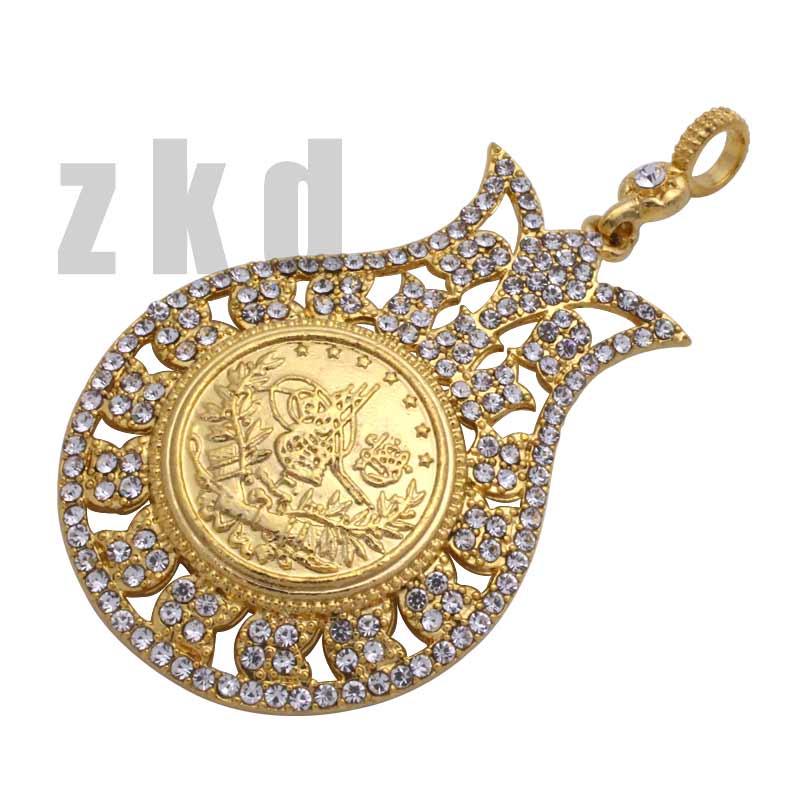 Ожерелье zkd с кулоном в виде мусульманской тюрбаны для женщин