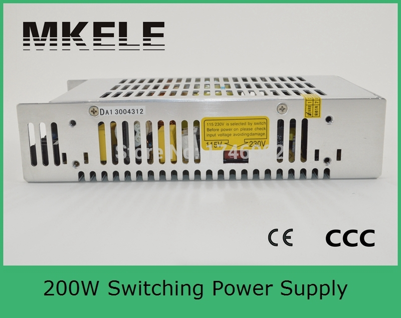 ФОТО CE approved safe standards 200w S-201-5 40A 5v Switch Power supply transformer for Display billboard industrial equipment