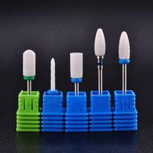 """3/3"""" Керамические сверла для ногтей, инструмент для полировки геля, 2,35 мм, фреза, Электрический Маникюрный станок, аксессуары"""