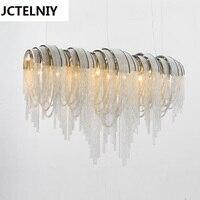 Italian luxury Atlantis aluminum curtain chain droplight sitting room dining room light villa hotel engineering ideas LED lamps