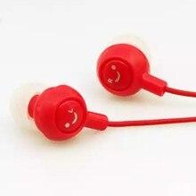 CL1 3,5 мм улыбающееся лицо наушники-вкладыши Шум Отмена гарнитура для мобильного телефона MP3 плеера для ПК