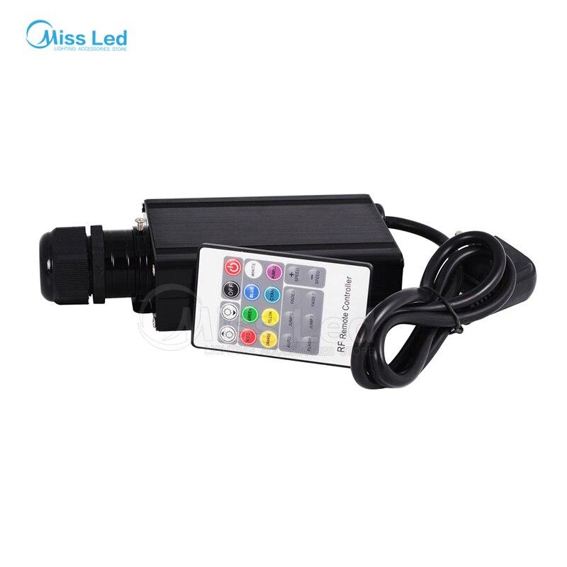 Doprava zdarma RGB 16W LED optický ovladač motoru s 20key RF dálkovým ovladačem pro všechny druhy optických vláken