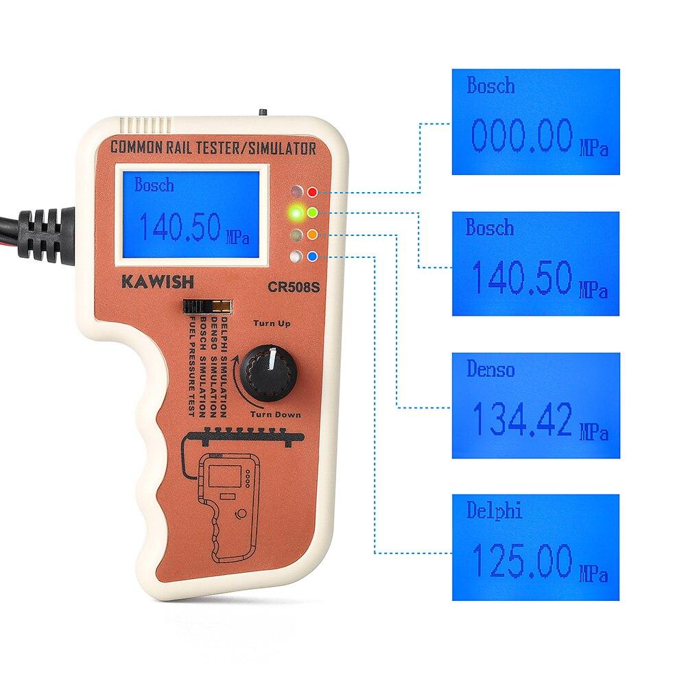 Автомобильный диагностический инструмент цифровой общий рельсовый Тестер давления симулятор для насоса высокого давления диагностически...