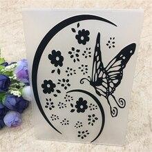 Paper-Craft-Stencils PLASTIC Album-Card-Packing Embossing-Folder-Leaves Cutting-Dies