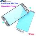1 ШТ. Передний Экран стеклянный объектив с Ближнего Безель Рамка Для iPhone 7 7 плюс 6 s 6 г 6 плюс 5S 5 г Ремонт Сенсорная панель Комплекты бесплатные инструменты,