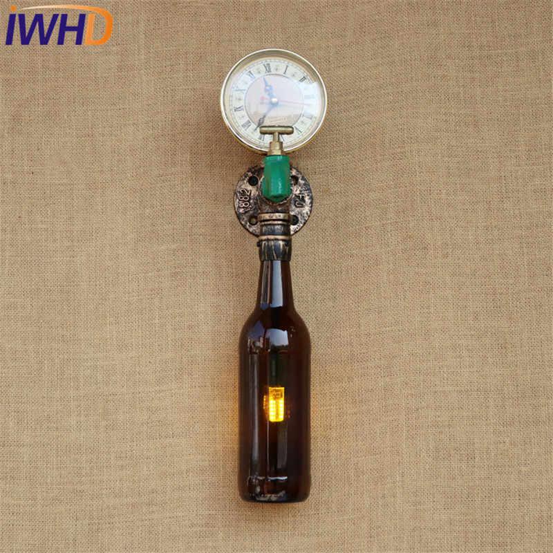 Стиль iwhd LOFT ретро кран для бутылки водопровод бра промышленных Винтаж светодиодный настенный светильник Освещение в помещении