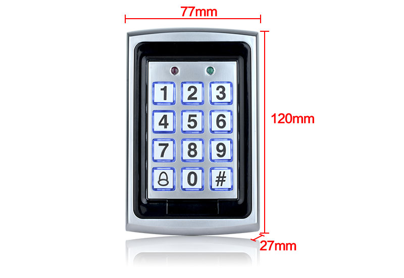HTB11JIrfPoIL1JjSZFyq6zFBpXao RFID Metal Access Control EM Card Reader Keypad with 10 EM4100 keyfobs waterproof protecter cover For Door Access Control System
