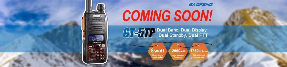 הווקי טוקי - 2pcs Baofeng GT-3TP MarkIII VHF/UHF Tri Power Dual Band