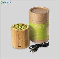 HANGRUI Bluetooth Speaker Wireless Loudspeaker Portable Wireless Solid Wooden Bluetooth Speakers Environmental Subwoofer Player