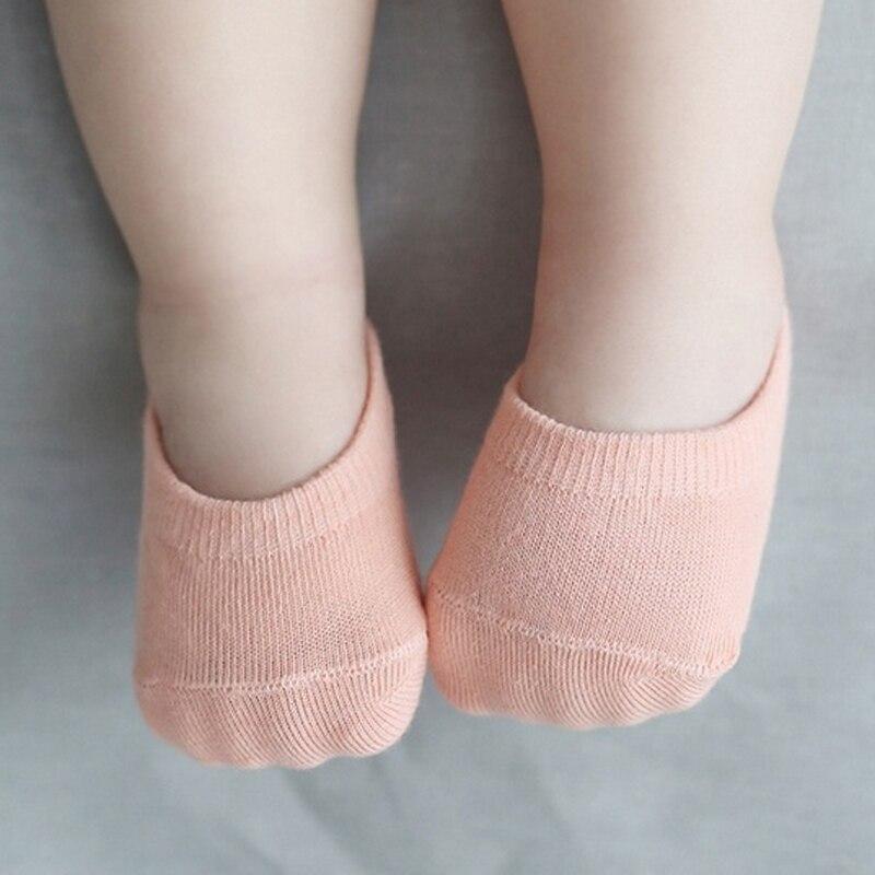 5 Paare/los Candy Farbe Neue Geboren Baby Socke Boden Kurz Anti Slip Ankle Socken Für Infant Jungen Mädchen Feste Farbe Seien Sie Freundlich Im Gebrauch