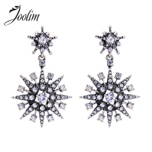 JOOLIM High End Luxury Dazzling Star Dangle Earring Statement Cocktail Fashion Jewelry Factory Wholesale
