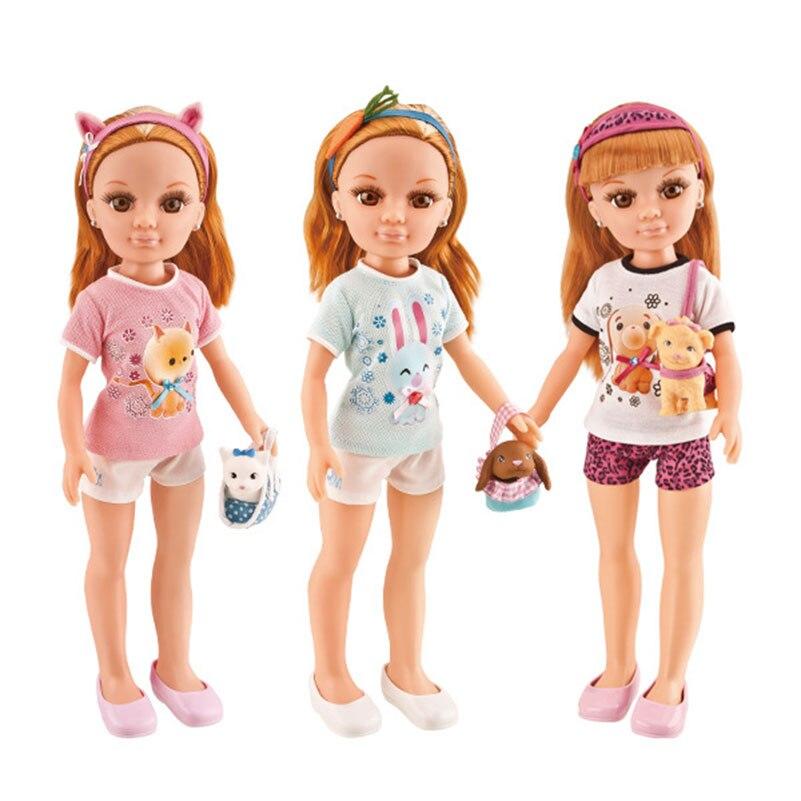ФОТО 17 Inch Plastic American Dolls Baby Dog Home Dog Cat Pet Girls DollsToys Baby Juguetes Girl For Children's Birthday Gifts