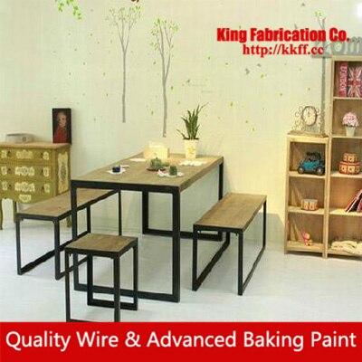 Pequeña mesa de café, madera maciza mesa de Comedor rectangular ...