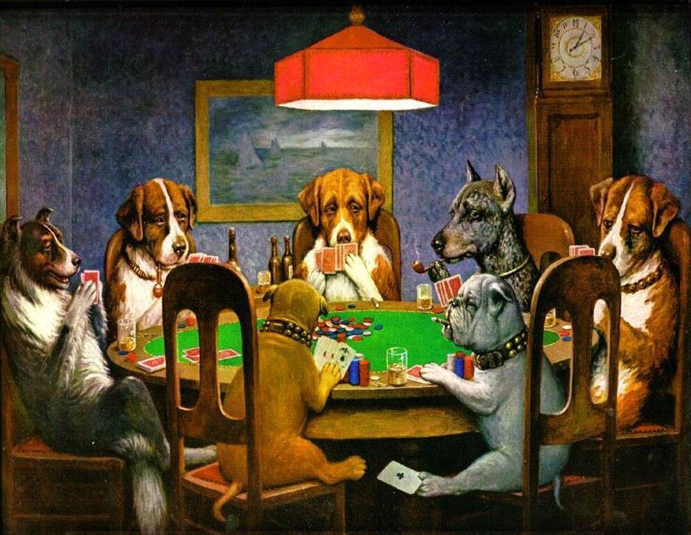 Pittura moderna Animale Home Decor Su Tela Cani Che Giocano A Poker Un Amico in Difficoltà da C. M. Coolidge Pittura A olio dipinta A Mano