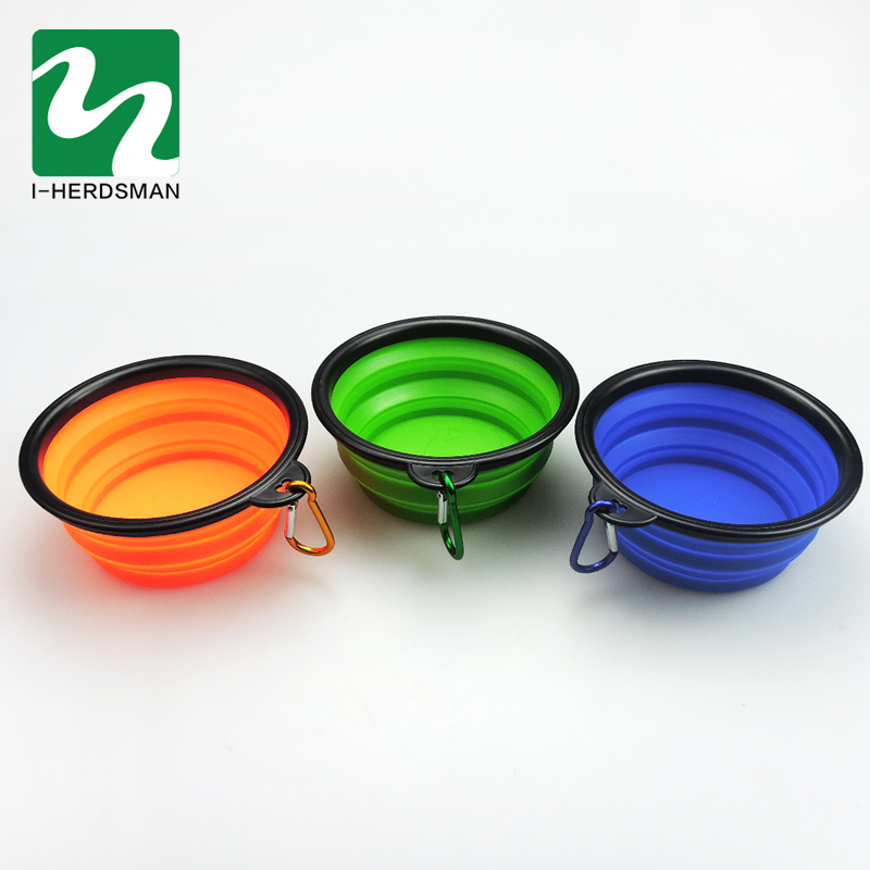 Hot Sale 1PC Pet Supplies Travel Bowls Collapsible Silicone Dog Feeding Bowls Portable Dogs Cat Food Water Feeder