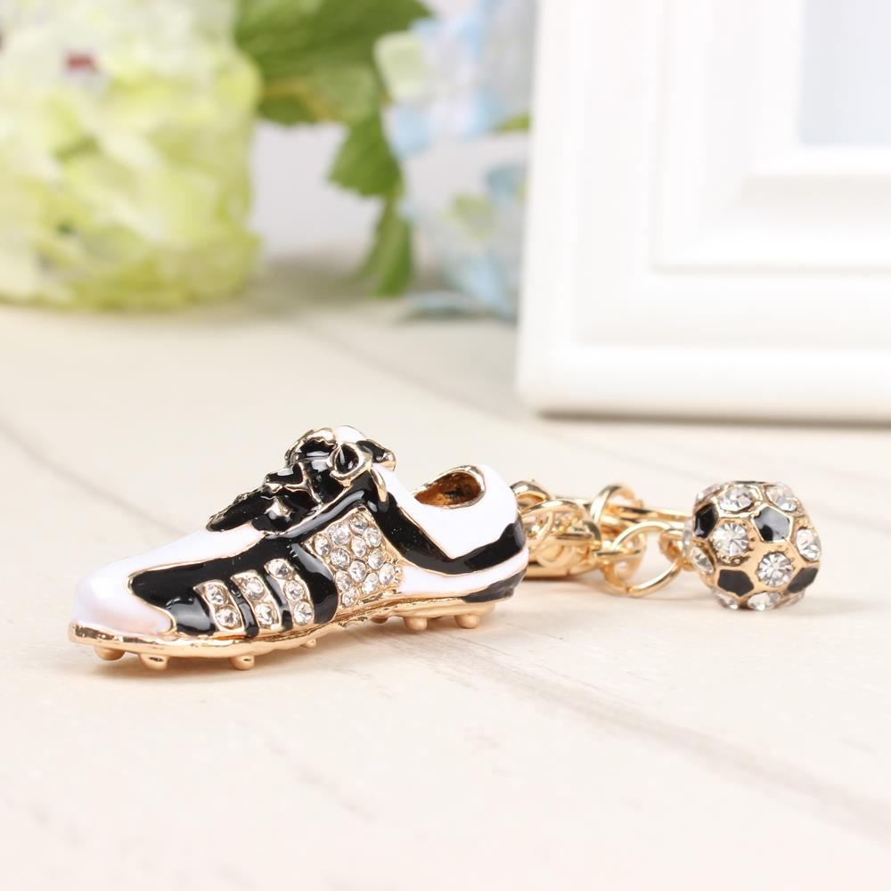 Football Shoe Sport Lovely New Fashion Cute Crystal Charm Pendant Purse Bag Car Key Ring ...