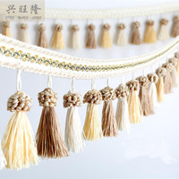 New 6M Lot 11cm Wide Colorful Tassel Curtain Lace Accessories Drapery Fringes Trim Ribbon DIY Sewing