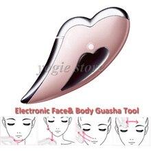 Portable Electronic Scraping Tool Chinese Guasha Facial Plate Body Massager Face Gua Sha Massage Spa Beauty Equipment Face Lift