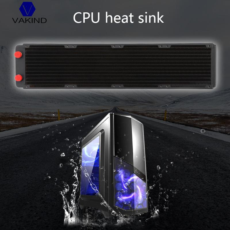 VAKIND Black 480mm Computer Water Discharge Liquid Heat Radiator With G1/4 Threaded Mouth For PC Computer Water Cooling System