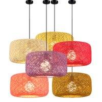 Tre cá tính ánh sáng đèn lồng treo cho phòng khách ăn uống ngủ phòng bóng dệt bóng mây Nghệ Thuật mặt dây chuyền đèn ZAG