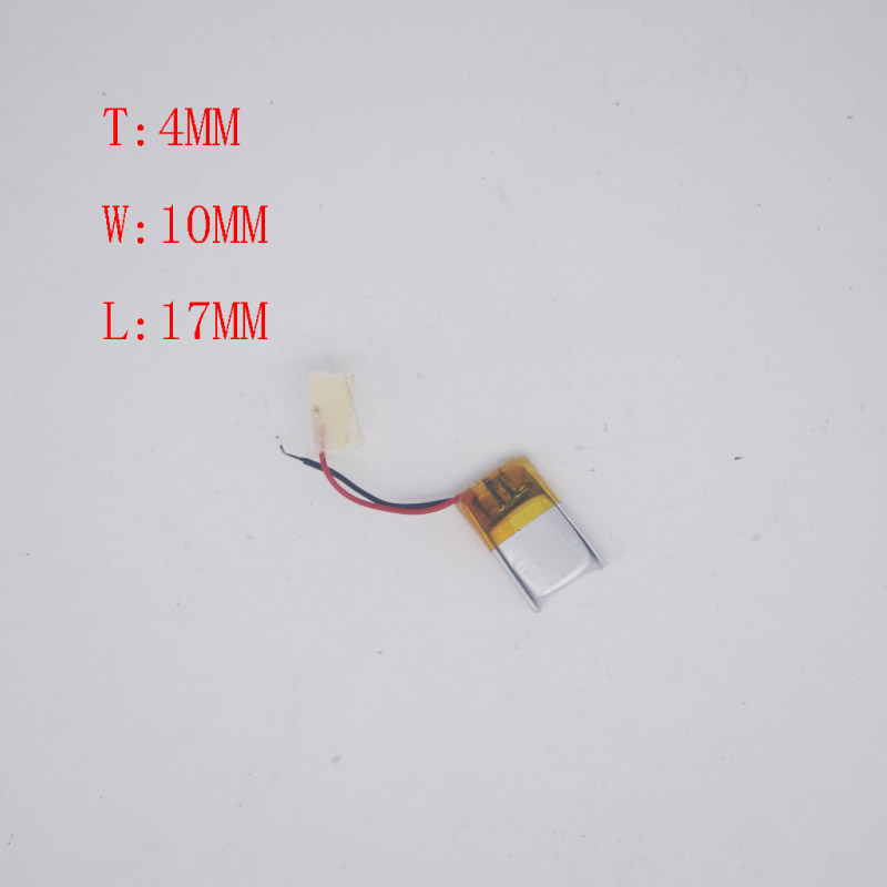 <font><b>3.7V</b></font> Polymer Lithium <font><b>Battery</b></font> 401017/ 401015 Bluetooth headset Micro small device <font><b>50mAh</b></font> image