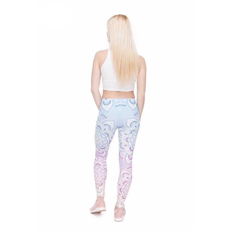 Różowy Sun Flower drukuj kobiety legginsy wysoka elastyczność wypoczynek legginsy budowy ciała szybki suszenia śliczne spodnie do spodni