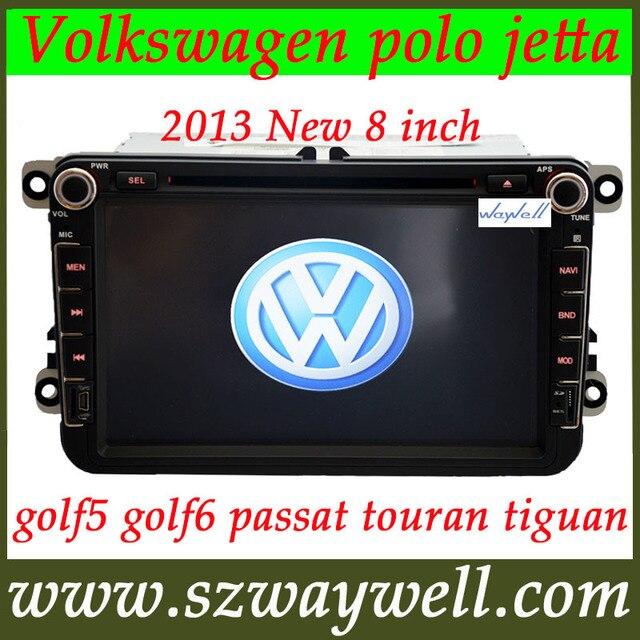 8 inch 2 DIN Car DVD radio  player for VW Volkswagen polo jetta golf5 golf6 passat touran tiguan GPS navigation