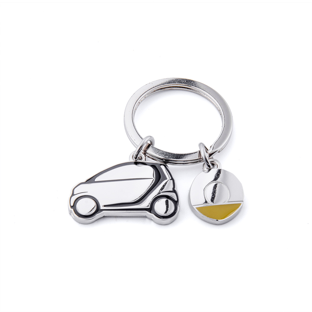 Car Key Chain Stainless Steel For Smart Two 451 Key Ring Keychain