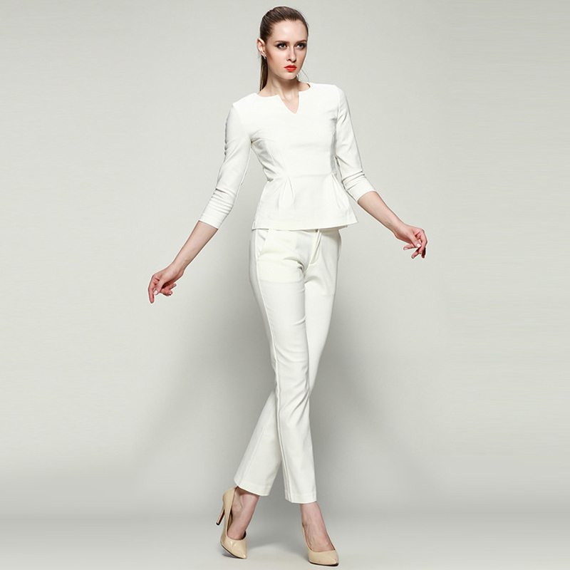 Aliexpress.com  Buy Women Business Suits Formal Office Suits Work Formal Pant Suit For Women ...