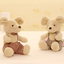 Stuffed & Plush Animals Interesting Cute mouse cartoon plush toy cute Sweetie animals Bedroom decoration Birthday Gift