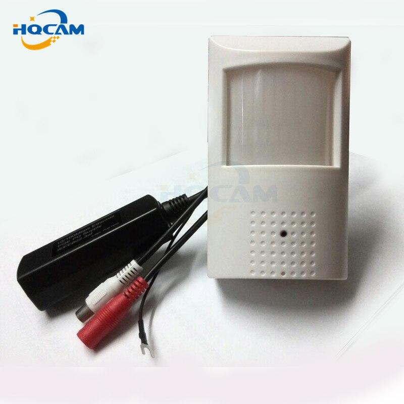 Hqcam ИК-1080 P маленький Ночное видение 2.0mp мини POE ИК-ПИР Камера детектор движения PIR Камера 48 шт. ИК светодиоды Ночное видение