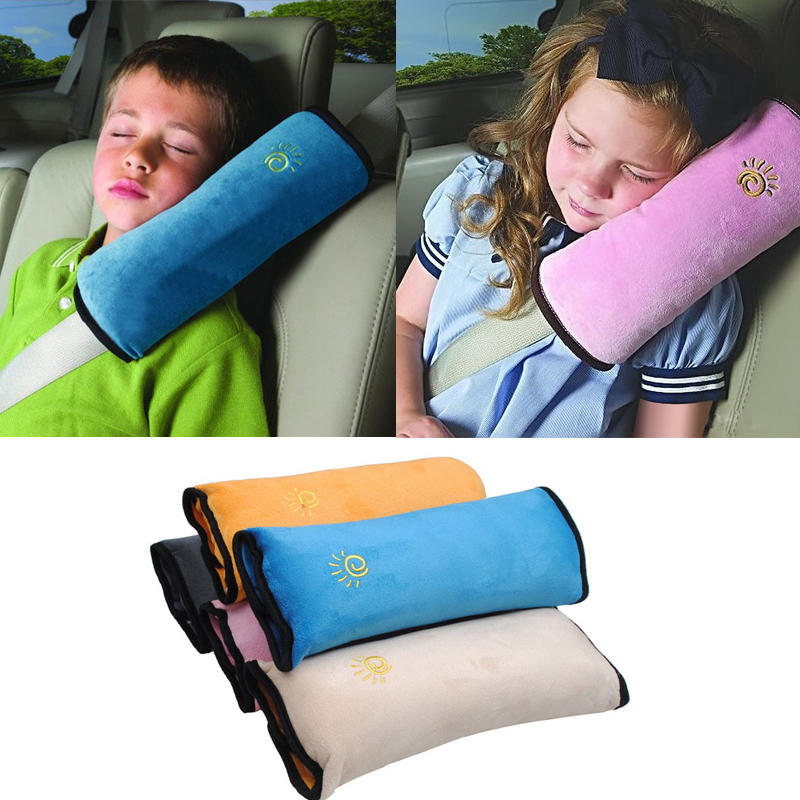 baby pillow car safety belt seat sleep positioner protect shoulder pad adjust vehicle seat cushion for kids baby playpens