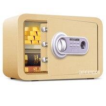 Бытовой Strongbox 33473 маленький мини ключ офисный пароль отпечатка пальца безопасности Противоугонный прикроватный столик Невидимый