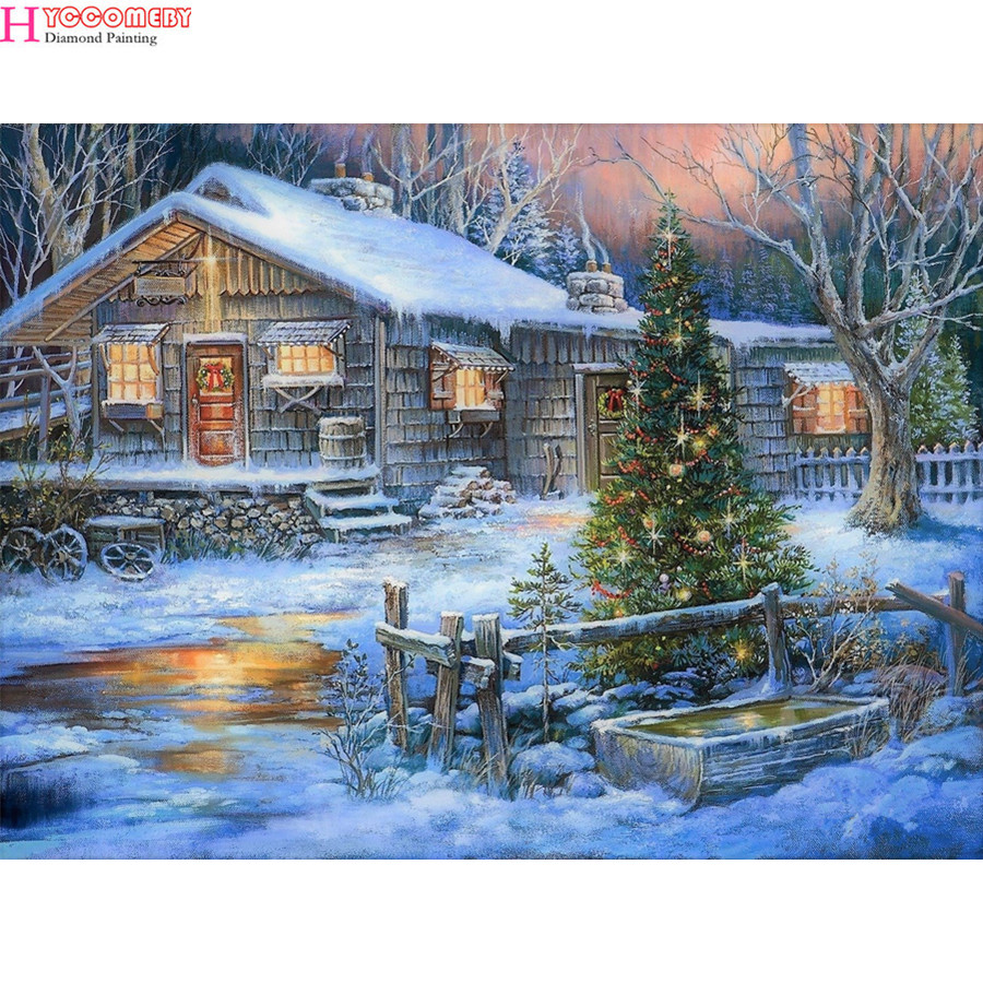 Lower Price with Full Square Scenery Diamond Embroidery House Cross Stitch Full Round Diamond Mosaic Landscape 5d Diy Diamond Painting Home Decor Arts,crafts & Sewing