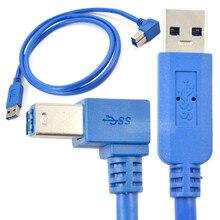 USB 3,0 мужчина к USB 3,0 B Мужской 90 градусов влево под углом кабель 1 м 100 см 3ft