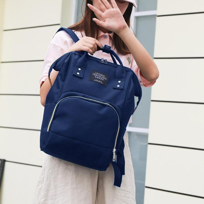 HTB11JM8KeuSBuNjSsplq6ze8pXaD Zipper Mummy Diaper Bags Maternity Shoulder Handbags Large Capacity Women Travel Backpacks Waterproof Baby Nappy Nursing Bags