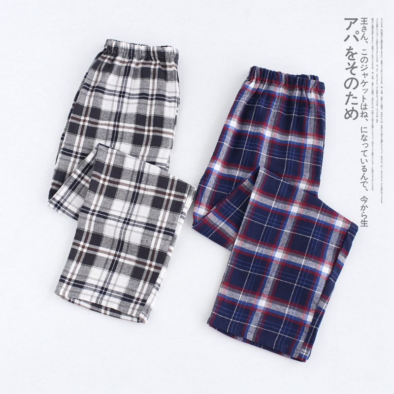 The Cheapest Price 100% Cotton Mens Short-sleeved Pajama Set O-neck Black T-shirt Plaid Trousers Mens Pajamas Autumn Sleepwear Plus Size For 95kg 2019 Official Men's Pajama Sets