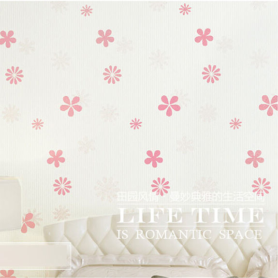 warm and sweet small leaf yarn designs princess wallpaper for girls room papel de parede marrom